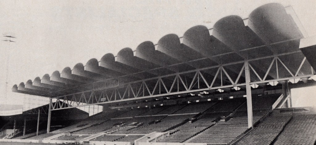 1982 to 83 new main stand roof