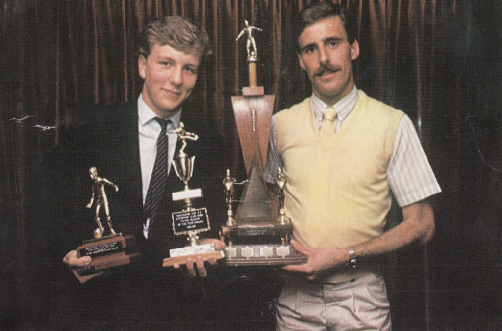 mick mcarthy jamie hoyland player and young player of the yr 1983 to 84