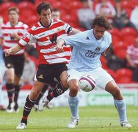 Doncaster away friendly 2007 to 08 corradi action