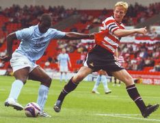 Doncaster away friendly 2007 to 08 micah action