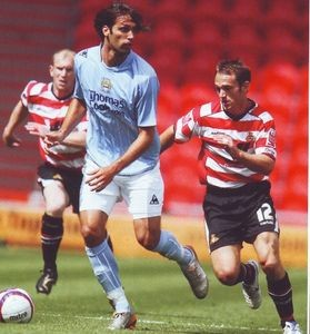 Doncaster away friendly 2007 to 08 samaras action