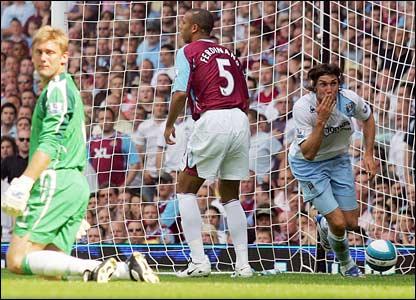 West ham away 2007 to 08 bianchi goal