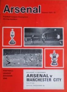 arsenal away 1971-72 prog