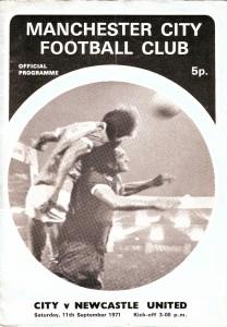 newcastle home 1971-72 programme