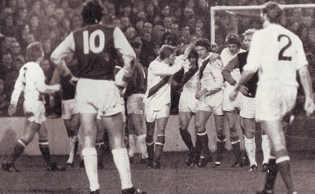 whul away 1971-72 davies goal celebration