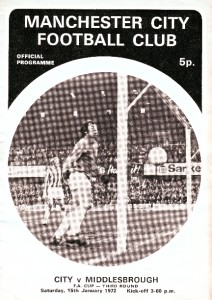 middlesbrough home fa cup 1971-71 programme