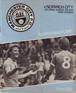 norwich home 1975 to 76 proga