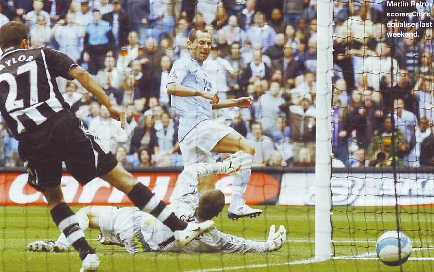 newcastle home 2007 to 08 petrov goal