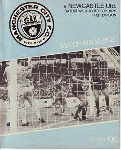 newcastle home 1975 to 76 proga