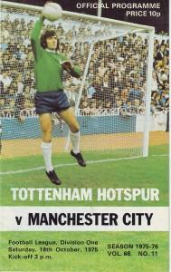 tottenham away 1975 to 76 prog