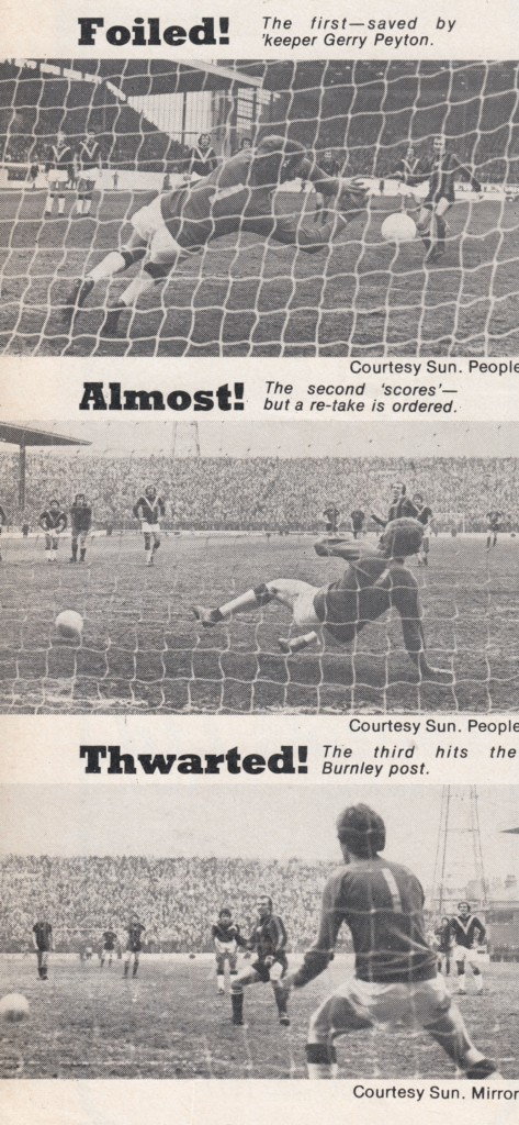 BURNLEY away 1975 to 76 tuearts penalty failures