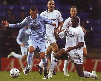 bolton away carling cup 2007 to 08 action