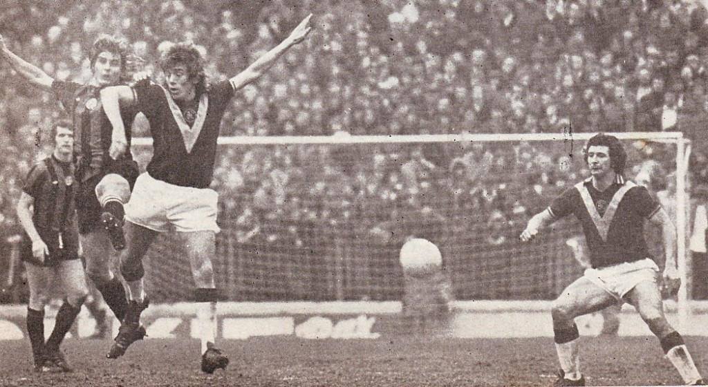 burnley away1975 to 76 action