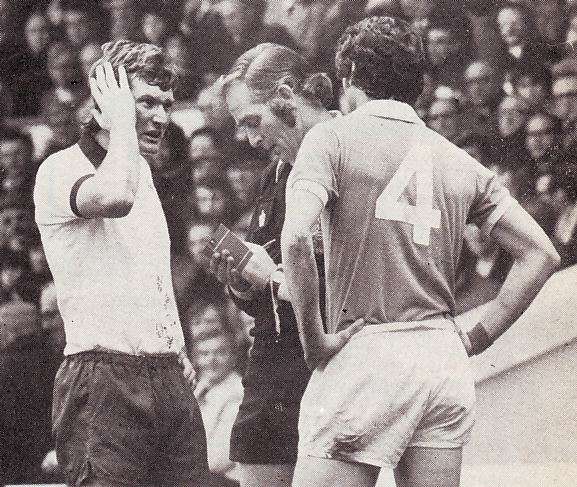 derby home 1975 to 76 doyle sent off