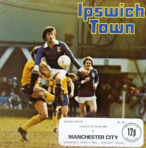 ipswich away 1975 to 76 prog