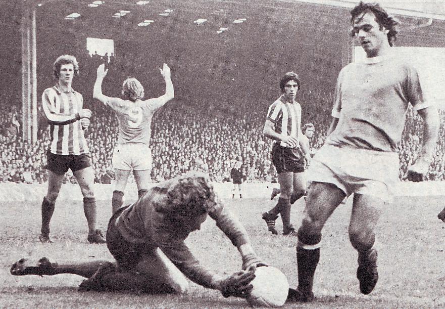 Southampton home 1973 to 74 leman action