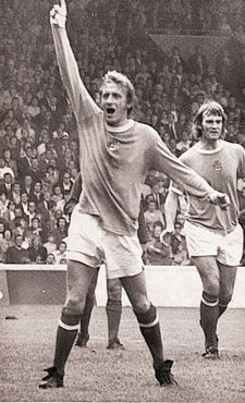 birmingham home 1973 to 74 law 2nd goal celeb