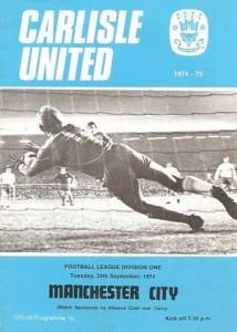 carlisle away 1974 to 75 prog
