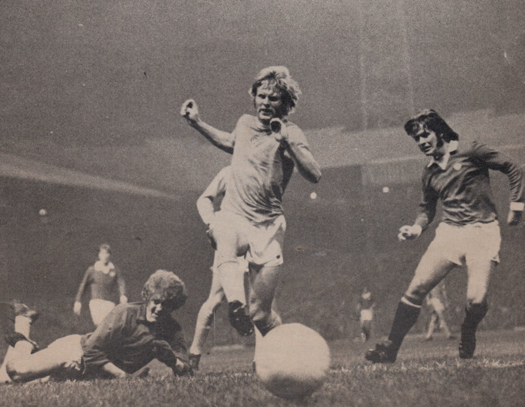 man utd league cup 1974 to 75 action