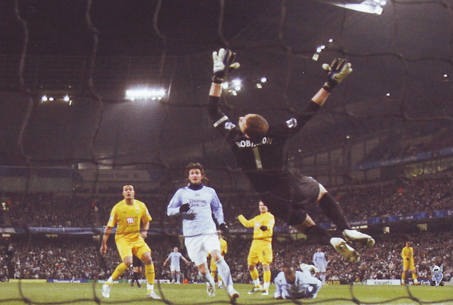 tottenham home carling cup 2007 to 08 robinson saves