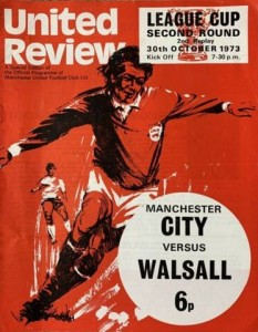 walsall league cup 2nd replay prog