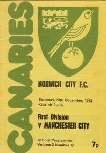 norwich away 1973 to 74 prog