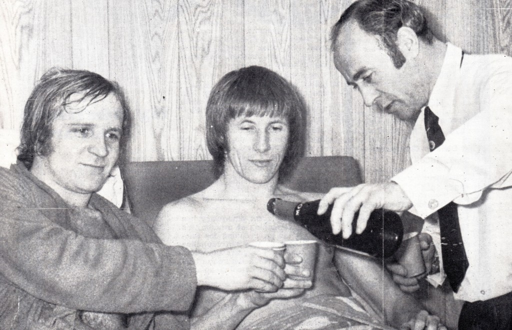 plymouth home 1973 to 74 players celeb drink after game