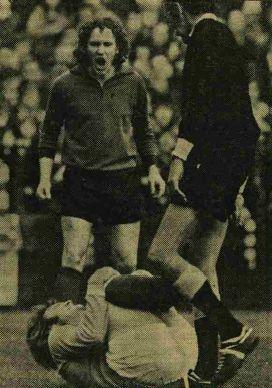 southampton away 1973 to 74 action