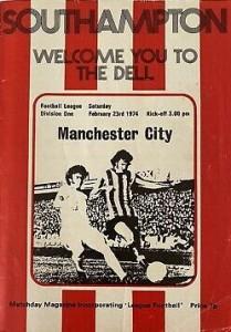 southampton away 1973 to 74 programme
