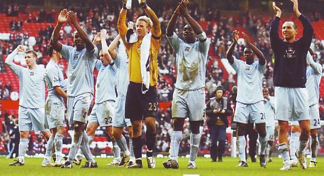 man u away 2007 to 08 celebrate