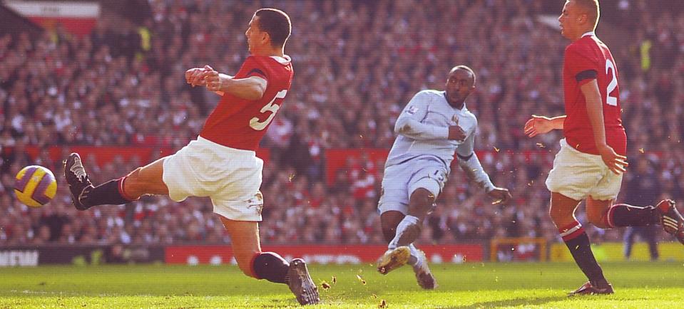man u away 2007 to 08 vassell goal