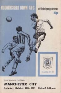 Huddersfield away 1971 to 72 prog