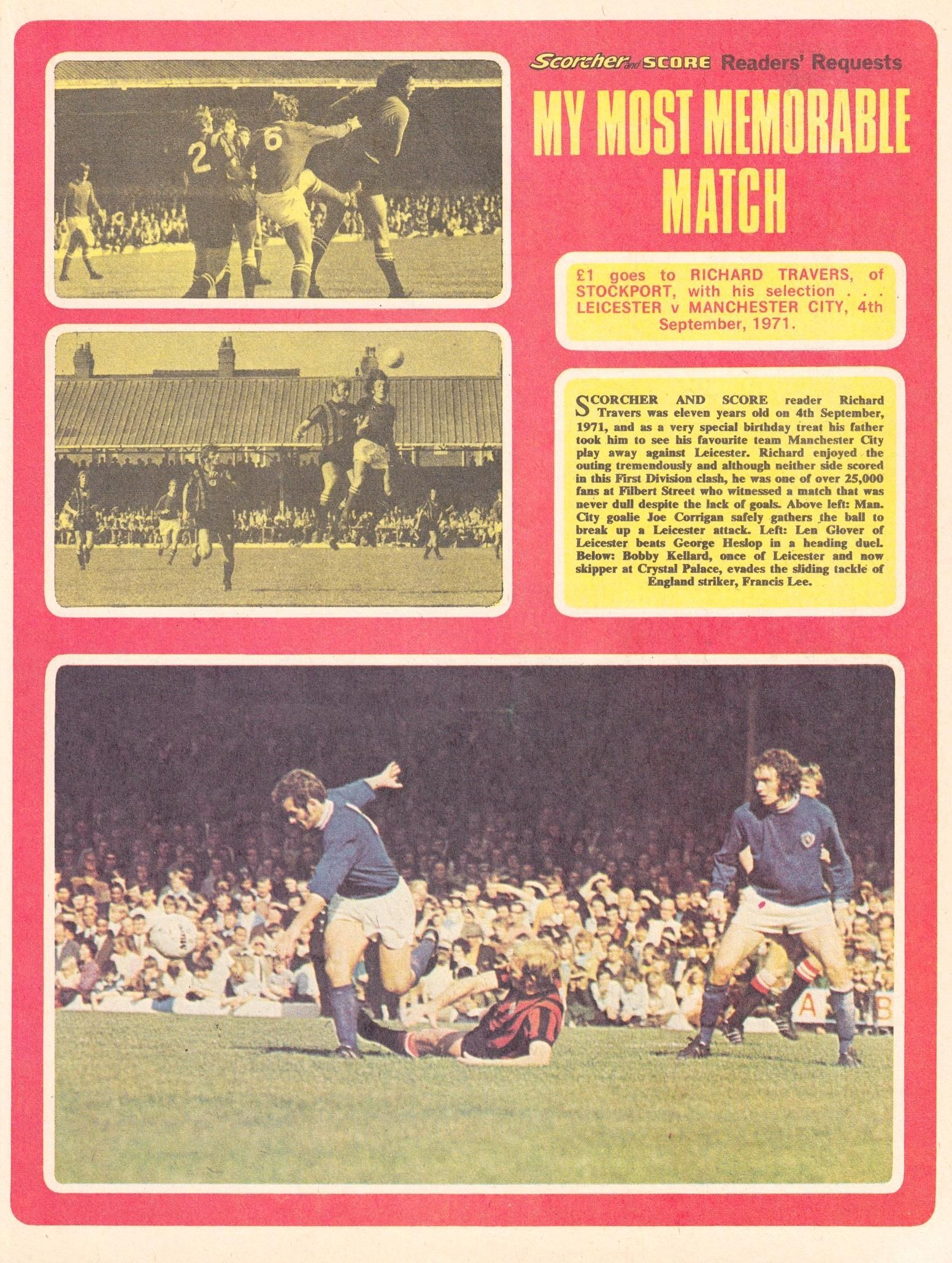 leicester away 1971 to 72 scorcher article 29 april 1972
