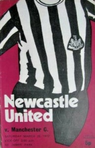 newcastle home 1971 to 72 prog