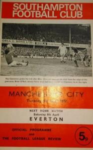 southampton away 1971 to 72 prog