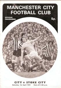 stoke home 1971-72 programme