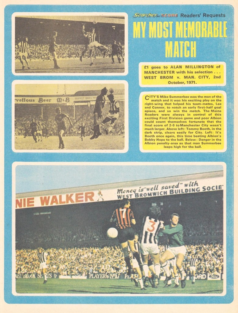 west brom away 1971 to 72 article scorcher 1st jan 1972