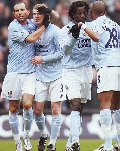 Fulham home 2007 to 08 benjani goal