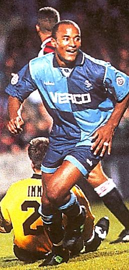 Wycombe away 1995 to 96 WW offside  goal