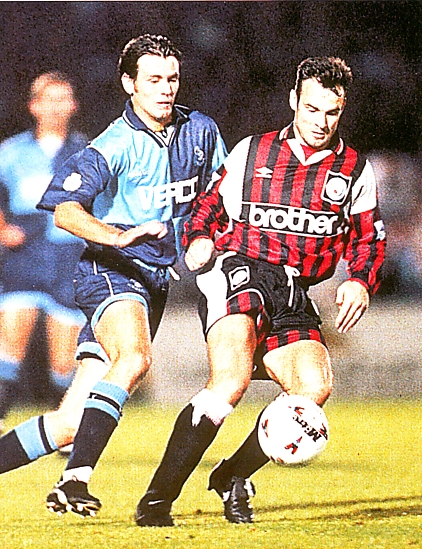 Wycombe away 1995 to 96 action1
