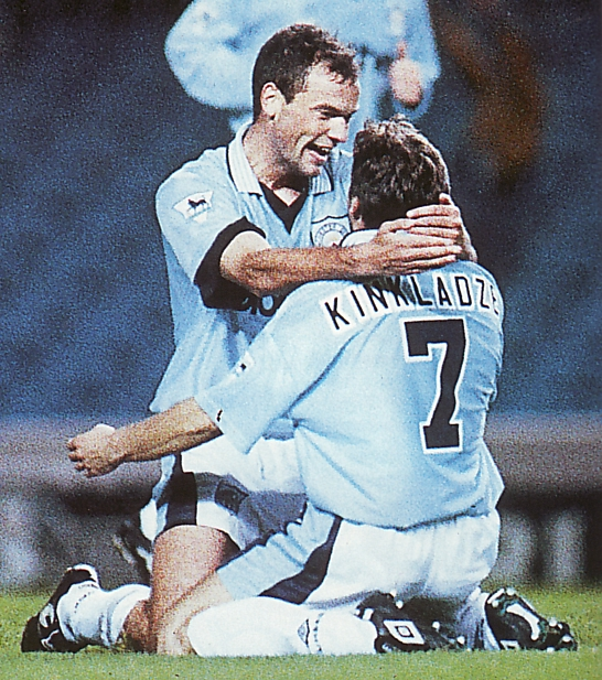 Wycombe home 1995 to 96 rosler goal celeb