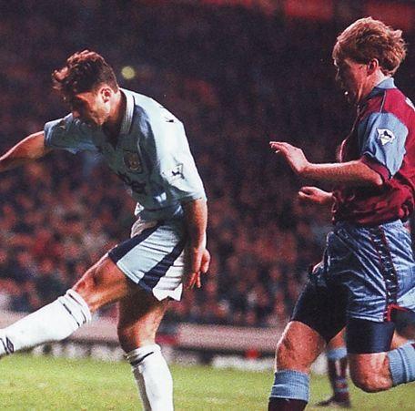 aston villa home 1995-96 kinky goal