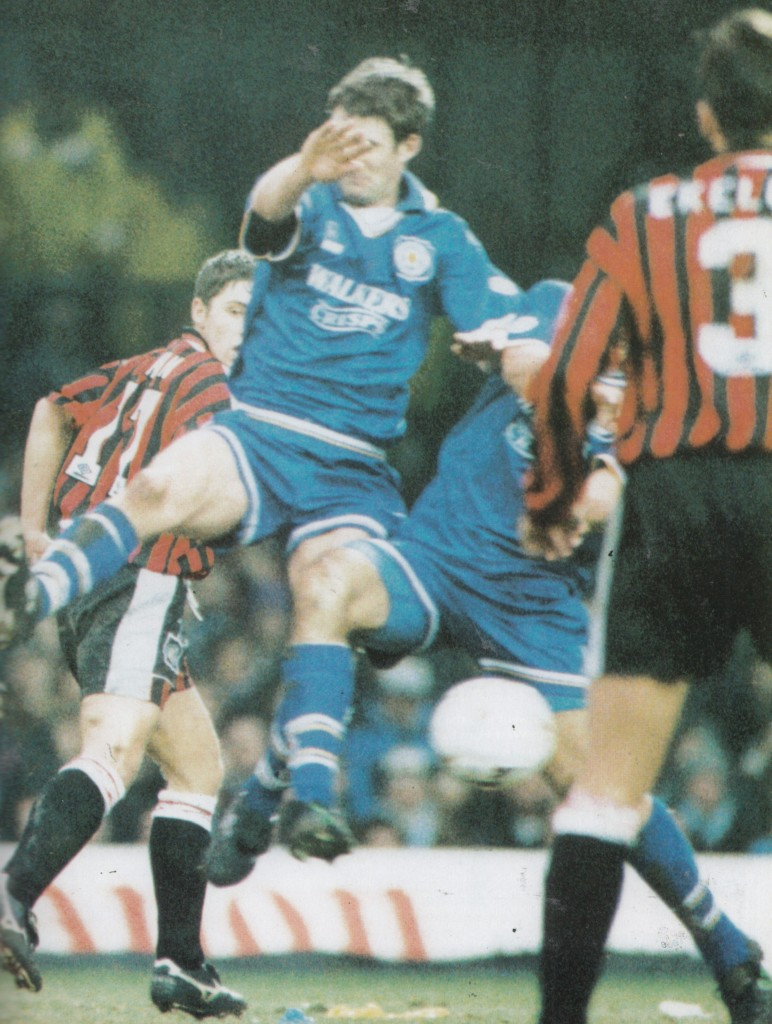 leicester away fa cup 1995 to 96 action9