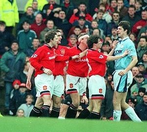man u away fa cup 1995 to 96 action3a