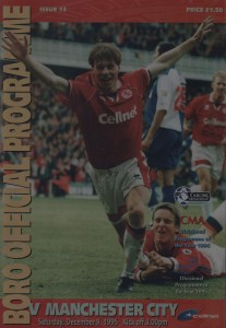 middlesbrough away 1995 to 96 prog