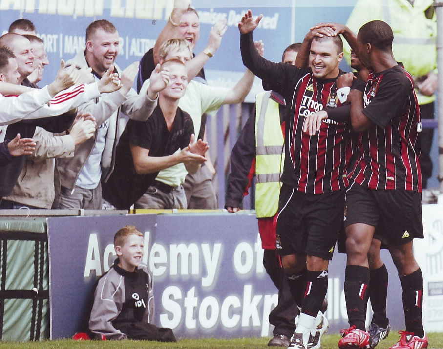 Stockport friendly 2008 to 09 bojinov goal 2