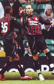 celtic away 2008 to 09 petrov goal