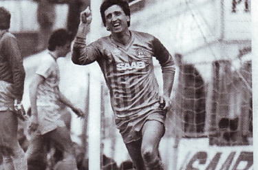 Cardiff home 1983 to 84 johnson goal