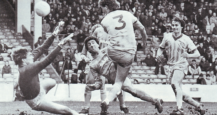 Cardiff home 1983 to 84 johnson goal2