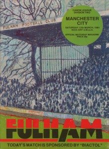 fulham away 1983 to 84 prog